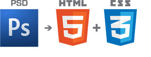 PSD to HTML5 and CSS3 conversion